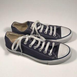 Converse Low Blue Canvas Sneakers Women 8